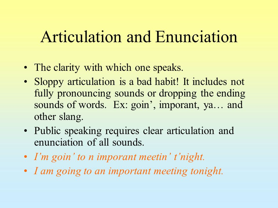 Articulation and Enunciation