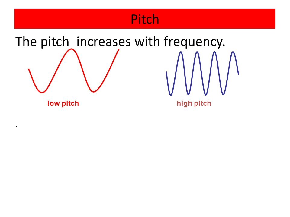 The pitch increases with frequency.