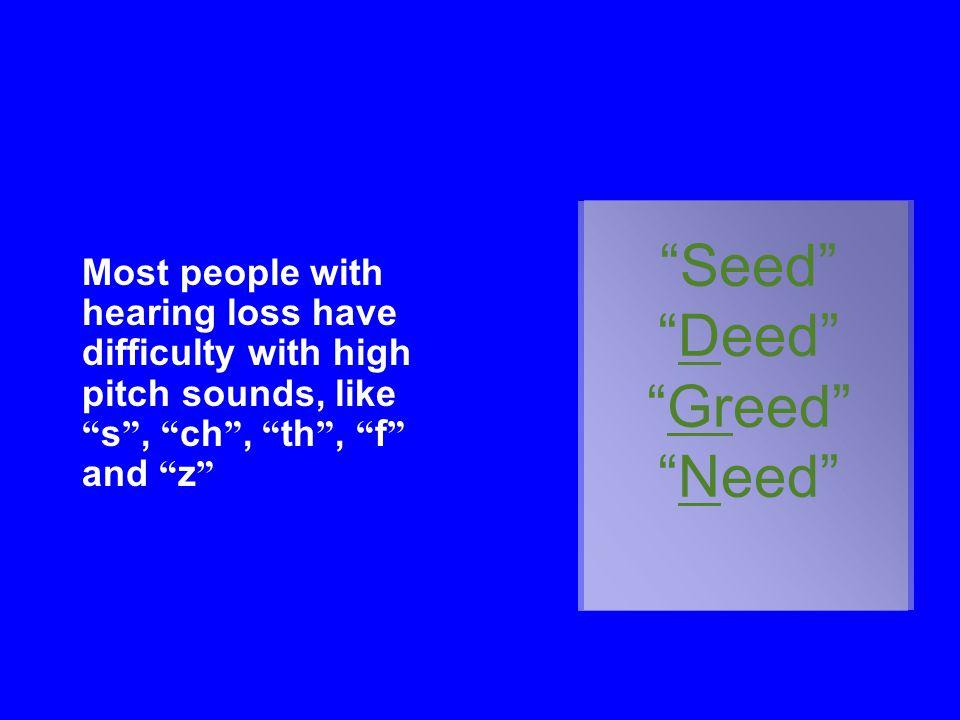 Seed Deed Greed Need