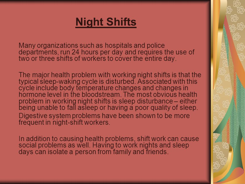 Night Shifts
