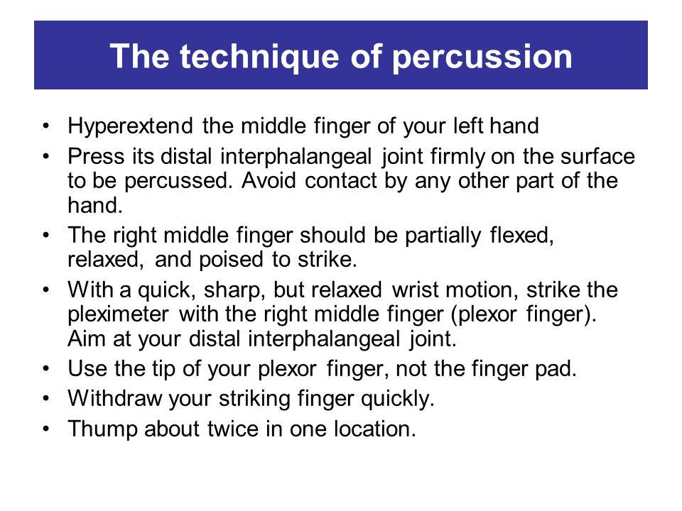 The technique of percussion