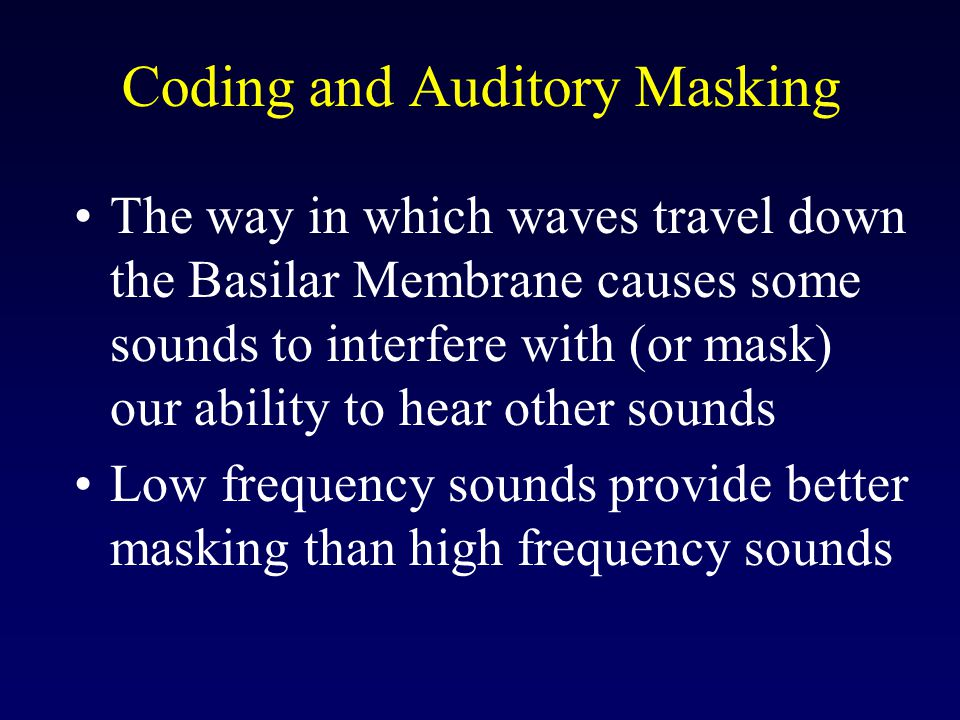 Coding and Auditory Masking