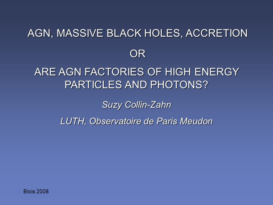 AGN, MASSIVE BLACK HOLES, ACCRETION