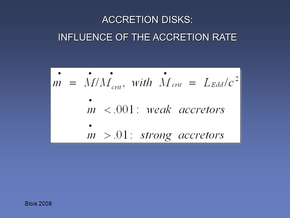 INFLUENCE OF THE ACCRETION RATE