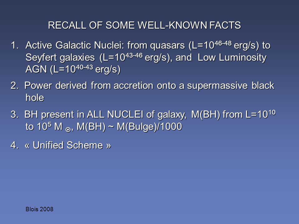 RECALL OF SOME WELL-KNOWN FACTS