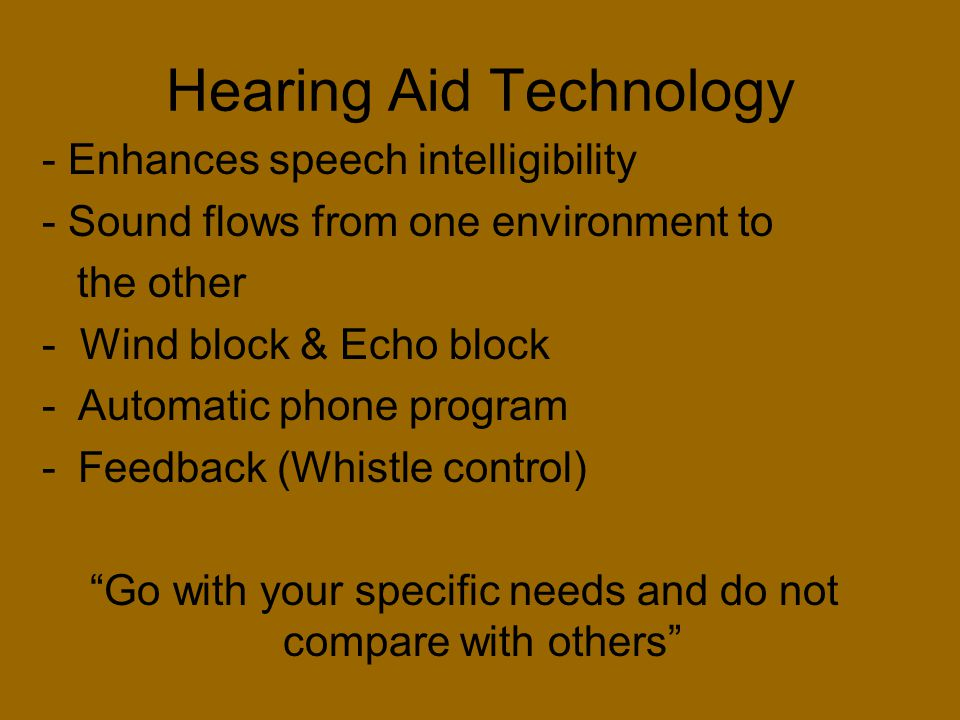 Hearing Aid Technology