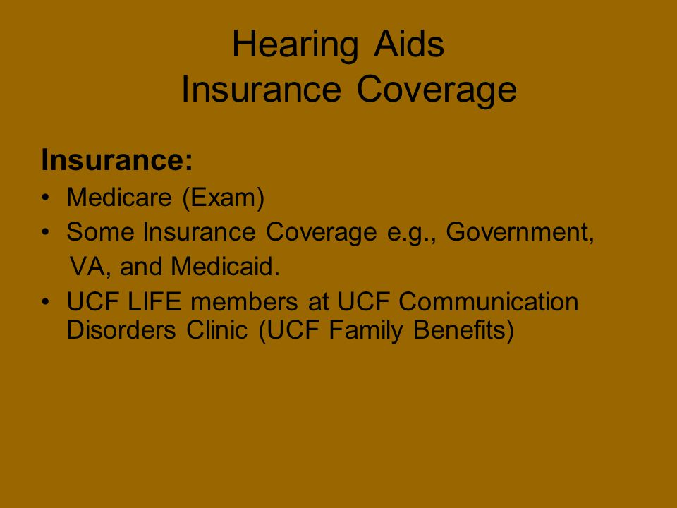 Hearing Aids Insurance Coverage
