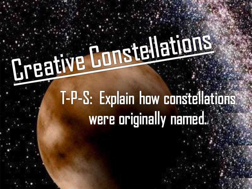 Creative Constellations