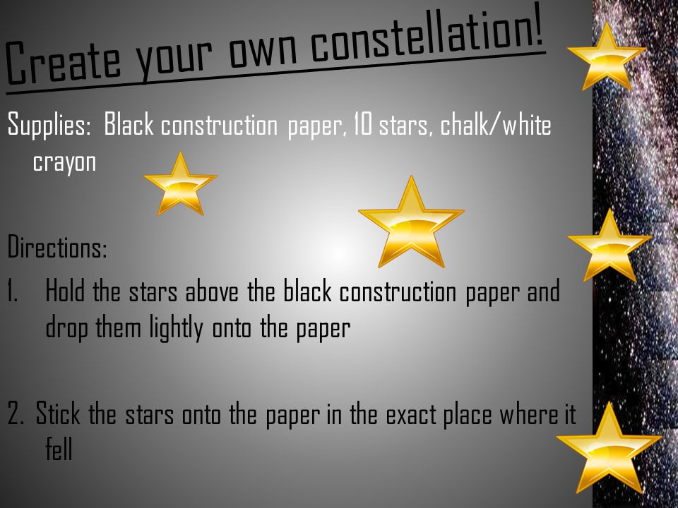 Create your own constellation!