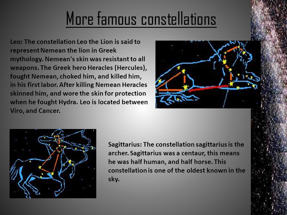 More famous constellations