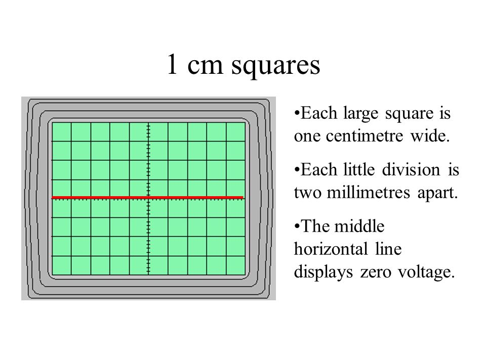 1 cm squares Each large square is one centimetre wide.