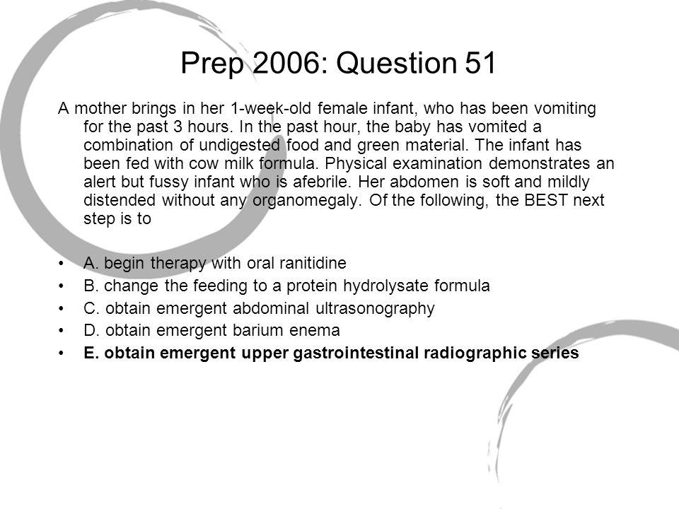 Prep 2006: Question 51