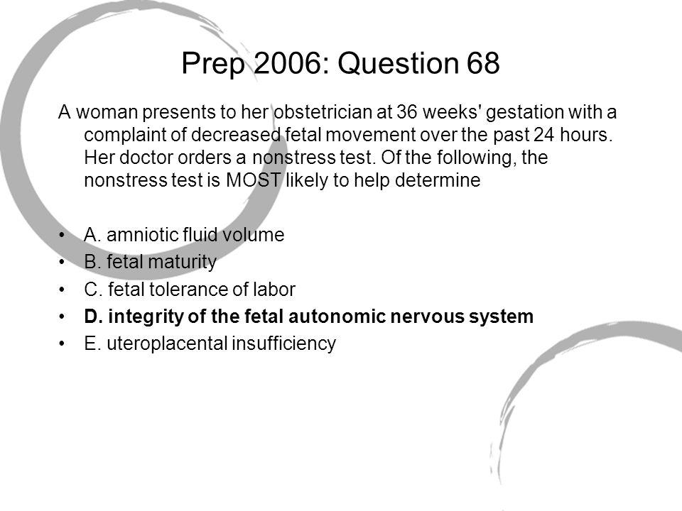 Prep 2006: Question 68