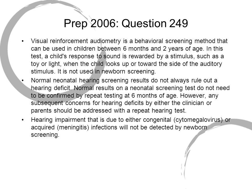 Prep 2006: Question 249