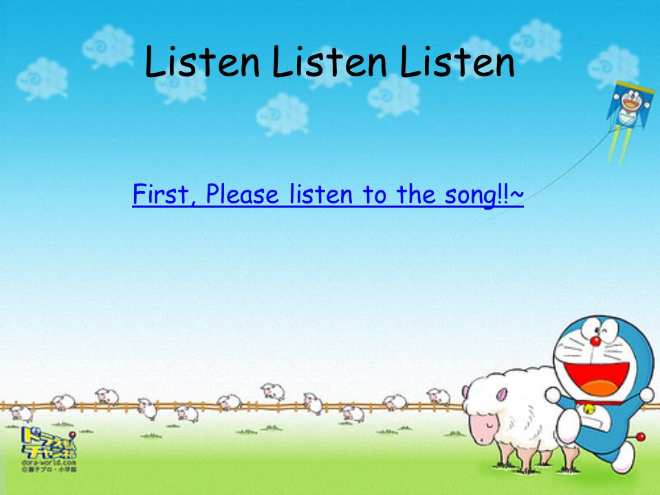 First, Please listen to the song!!~