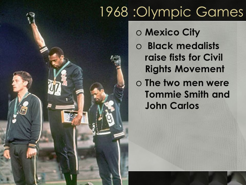 1968 :Olympic Games Mexico City