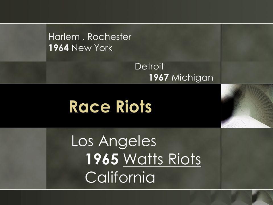 Race Riots Los Angeles 1965 Watts Riots California Harlem , Rochester