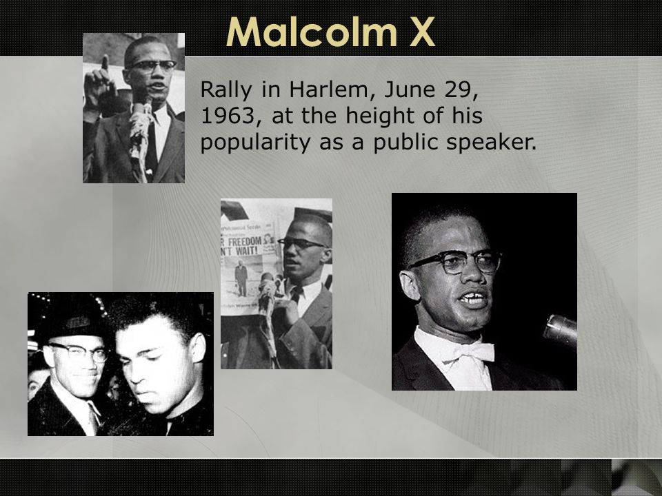 Malcolm X Rally in Harlem, June 29, 1963, at the height of his popularity as a public speaker.