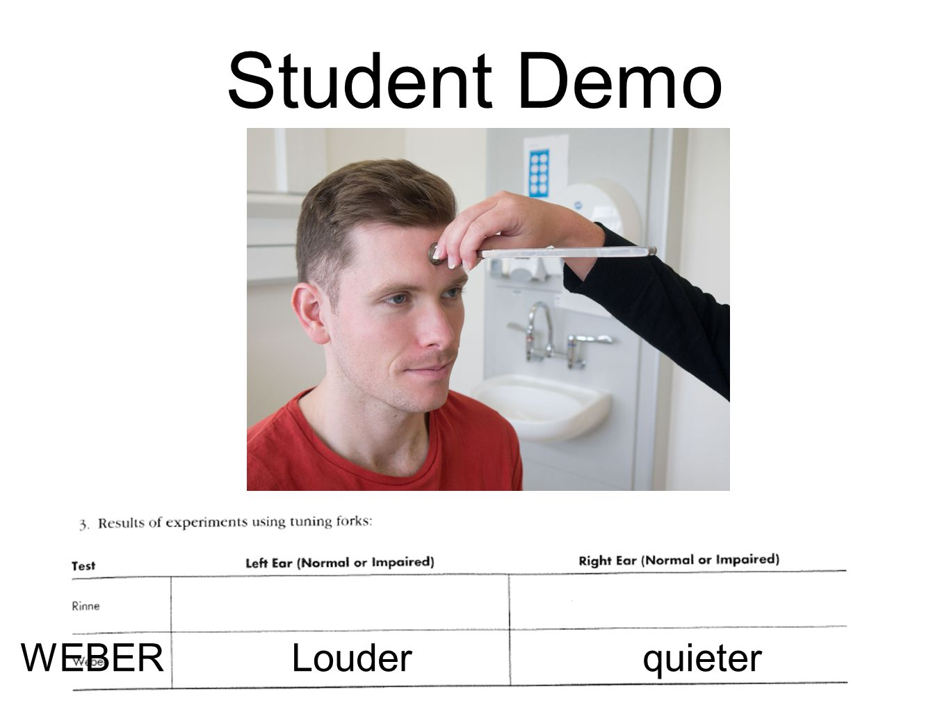 Student Demo WEBER Louder quieter