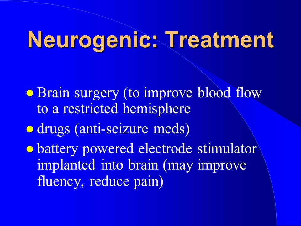Neurogenic: Treatment