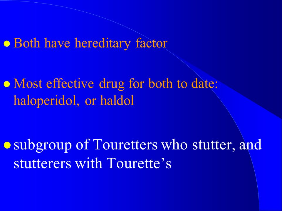 subgroup of Touretters who stutter, and stutterers with Tourette's