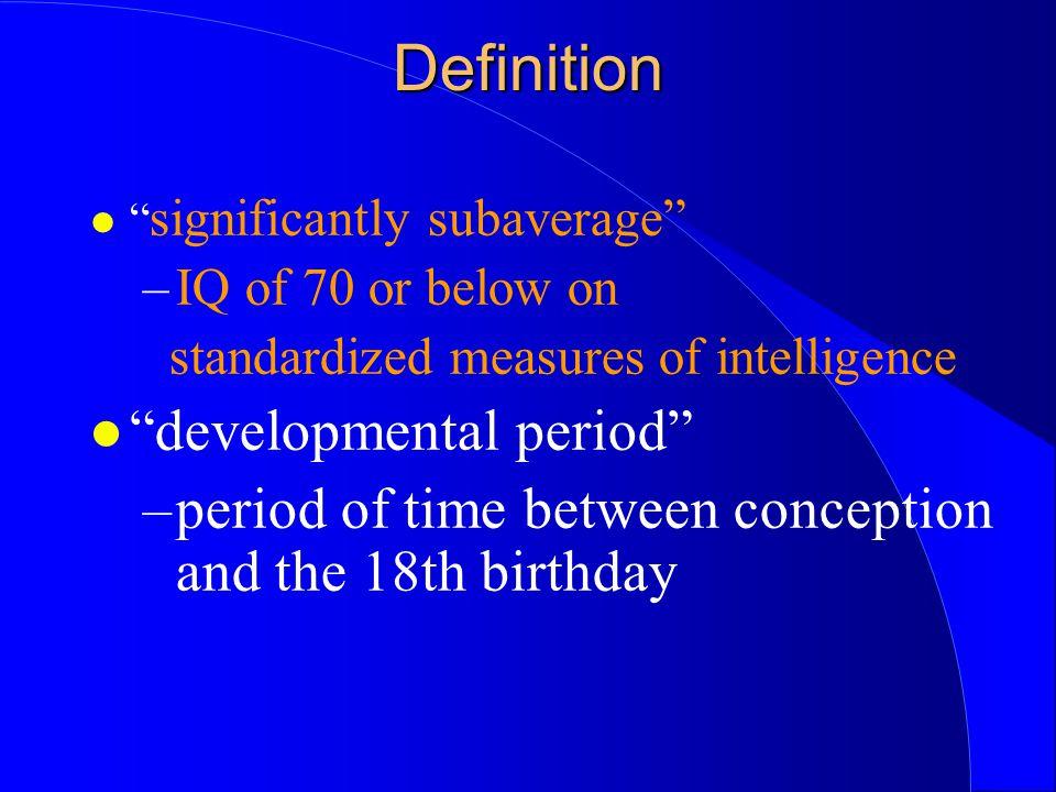 Definition developmental period