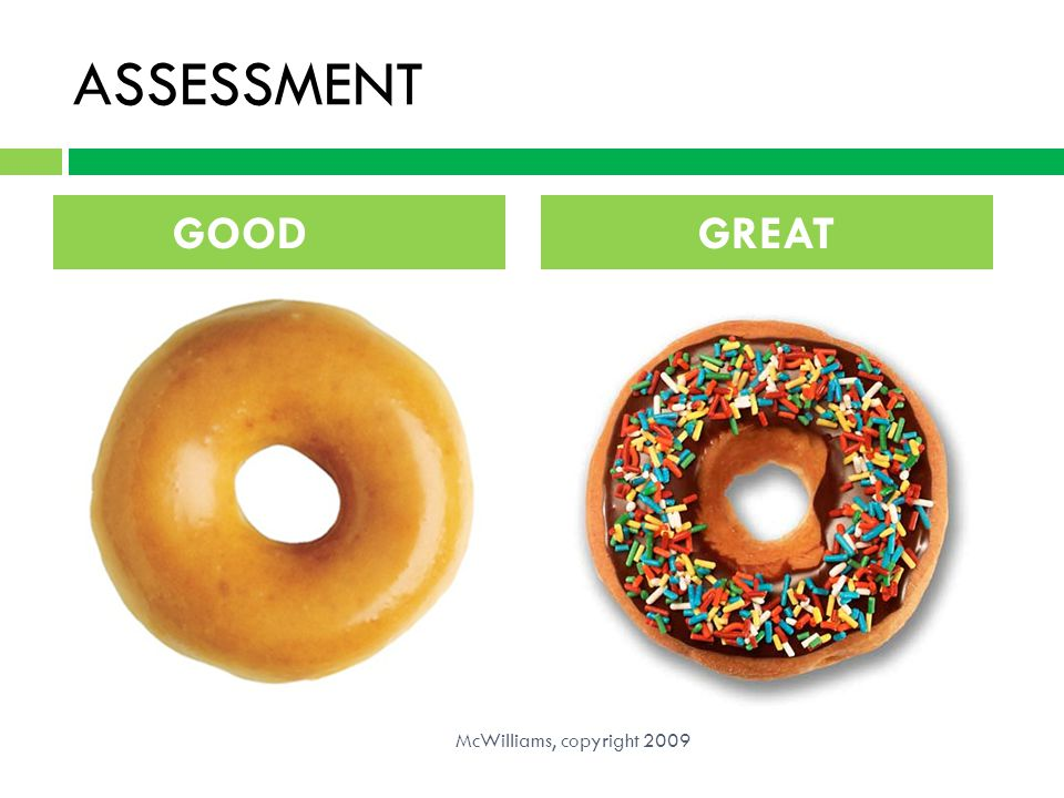 ASSESSMENT GOOD GREAT McWilliams, copyright 2009
