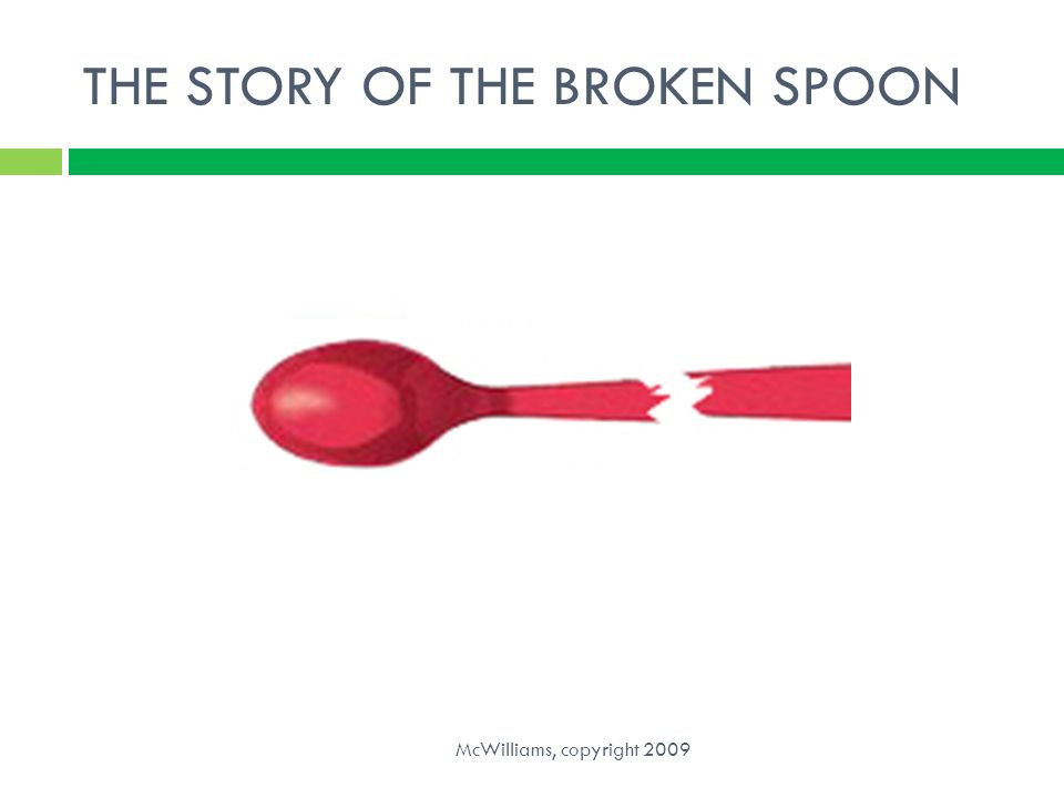 THE STORY OF THE BROKEN SPOON