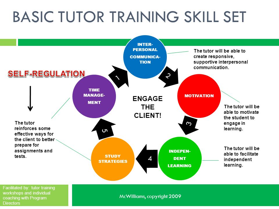 BASIC TUTOR TRAINING SKILL SET