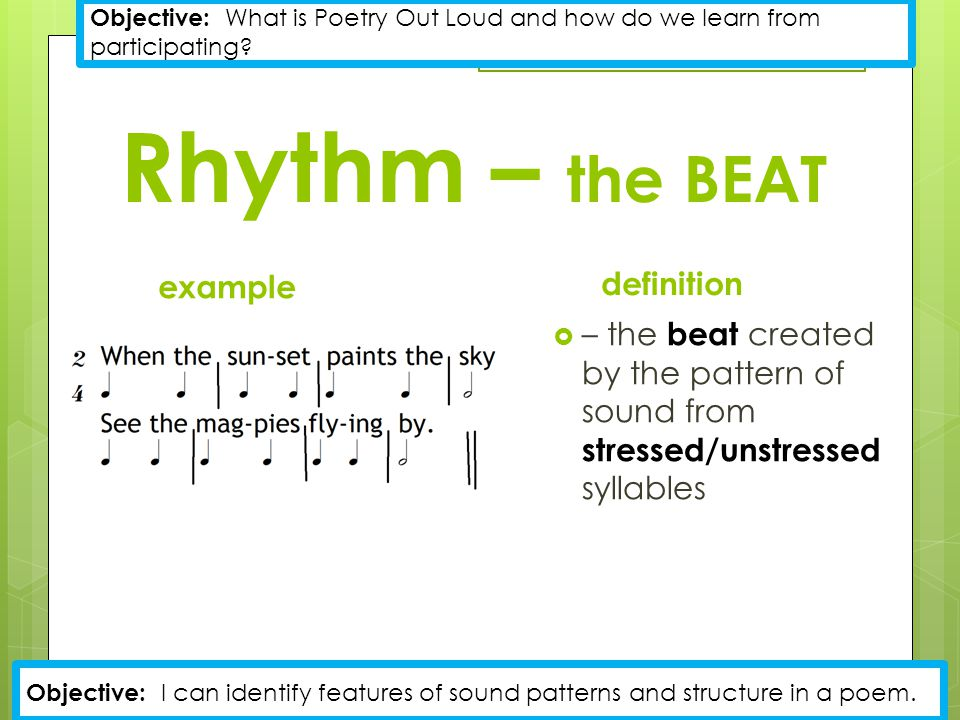 Rhythm – the BEAT example definition