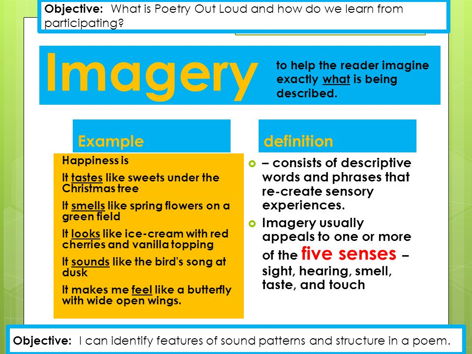 Imagery Example definition