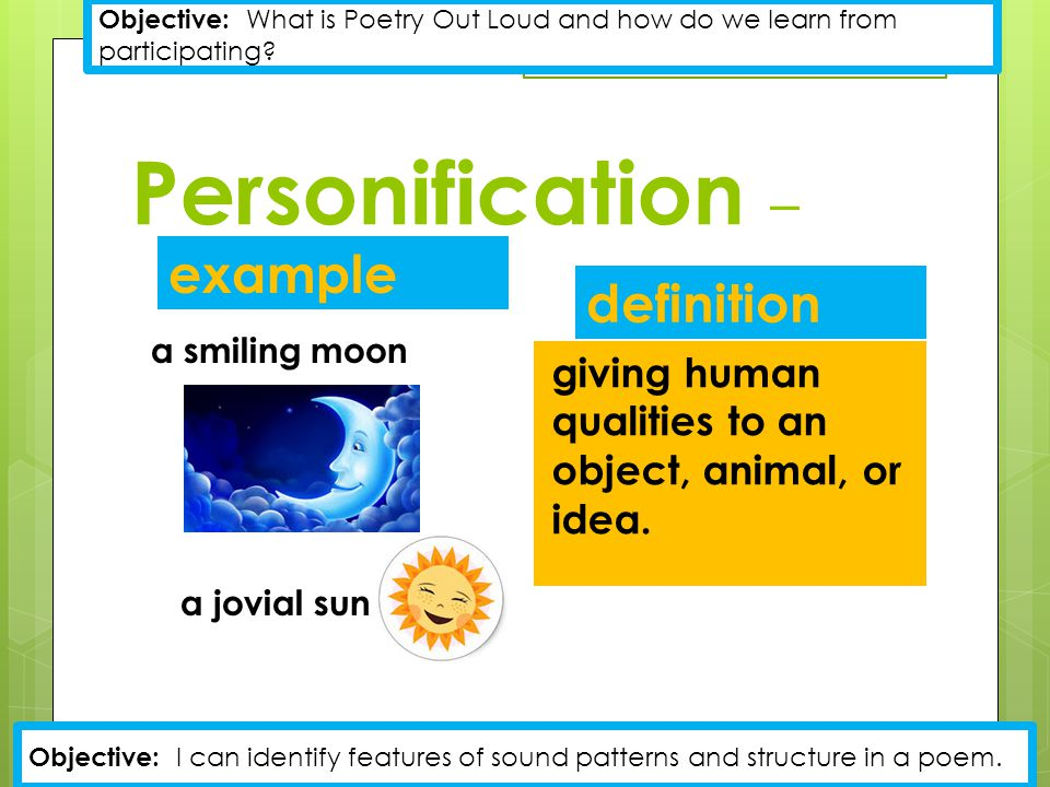 Personification – example definition