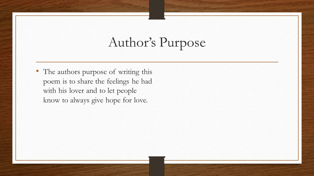 Determine an Author's Purpose Essay Sample