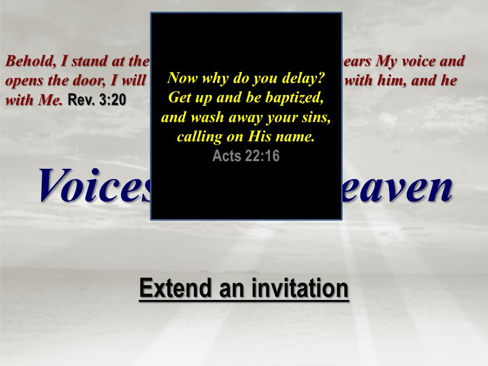 Voices From Heaven Extend an invitation