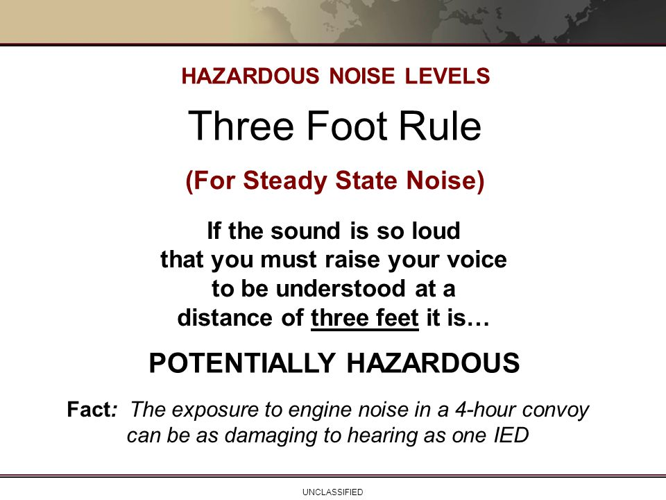 HAZARDOUS NOISE LEVELS