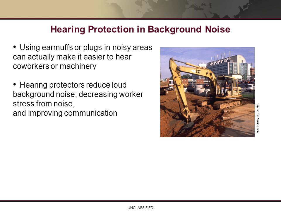 Hearing Protection in Background Noise