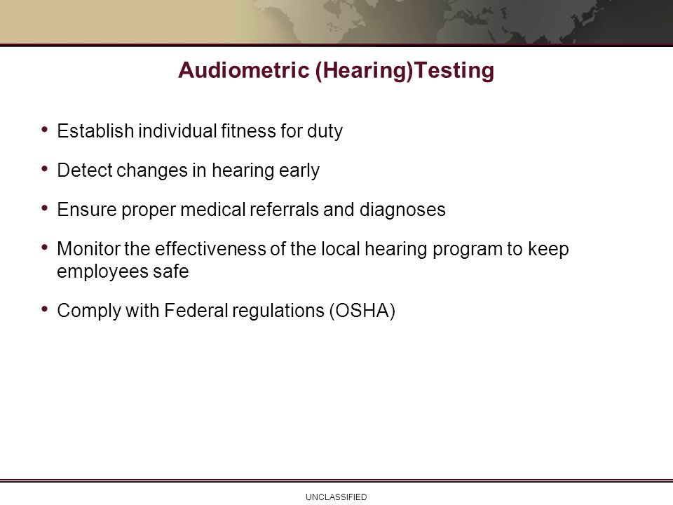 Audiometric (Hearing)Testing