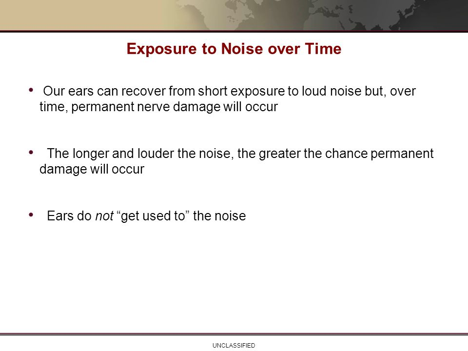 Exposure to Noise over Time