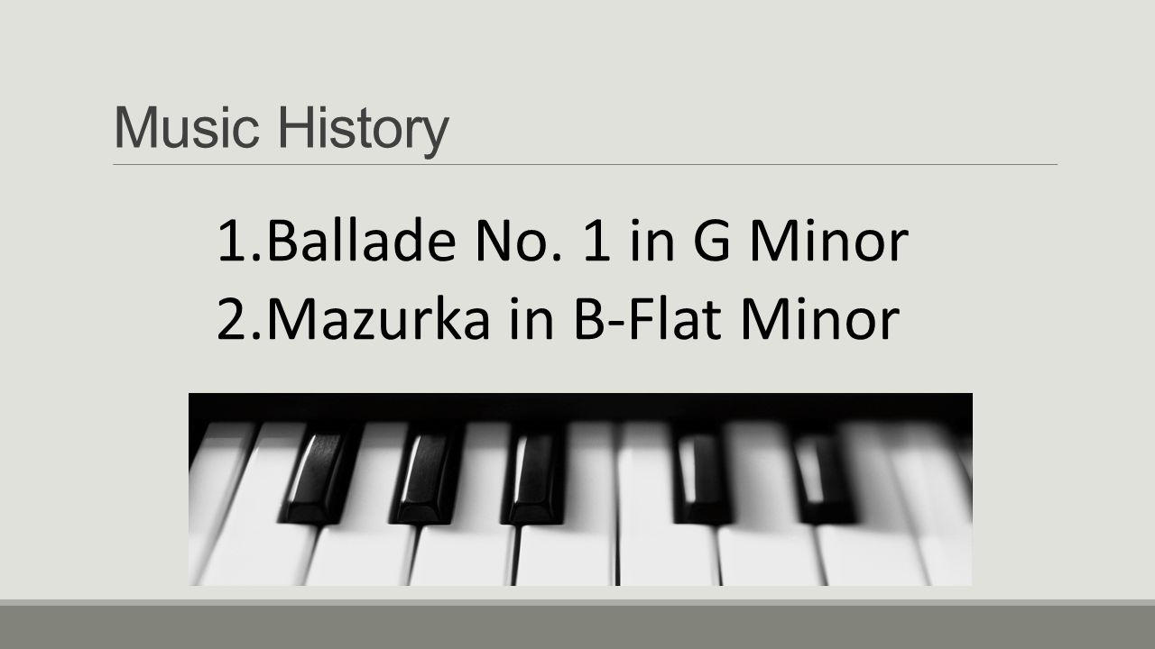 Mazurka in B-Flat Minor