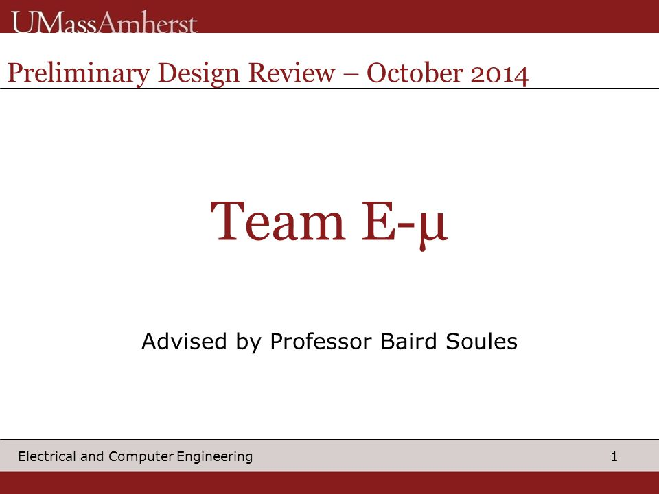 Advised by Professor Baird Soules