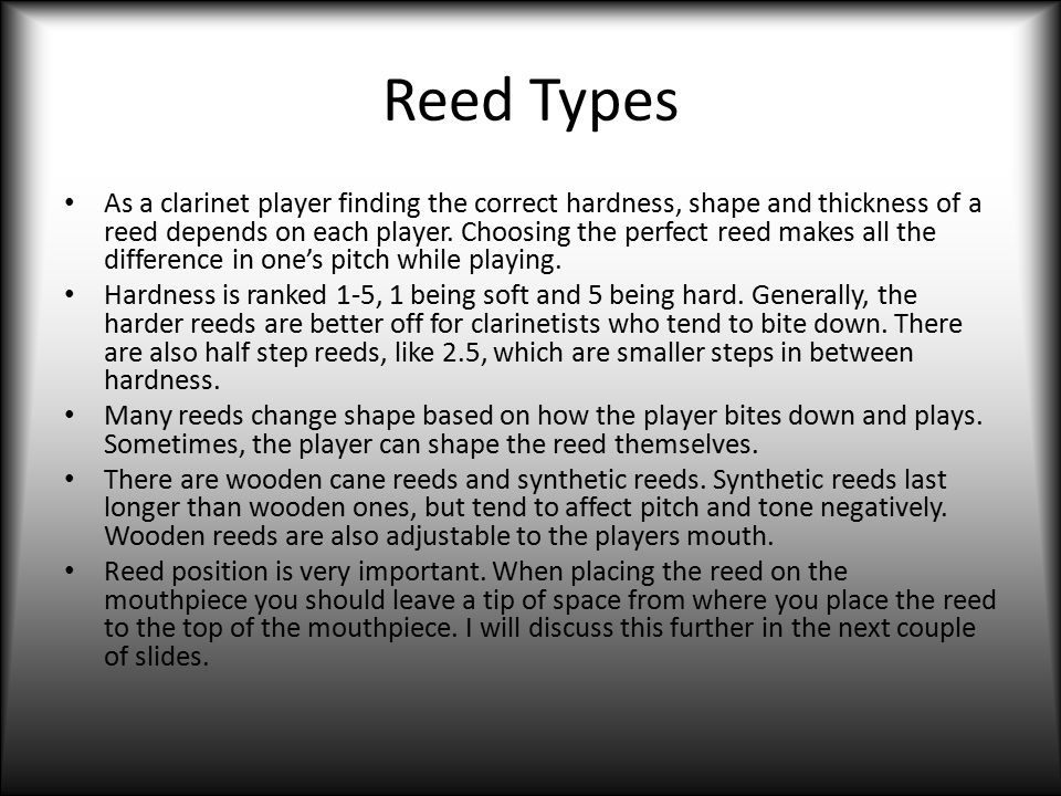 Reed Types
