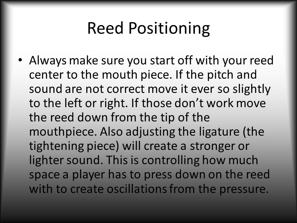 Reed Positioning