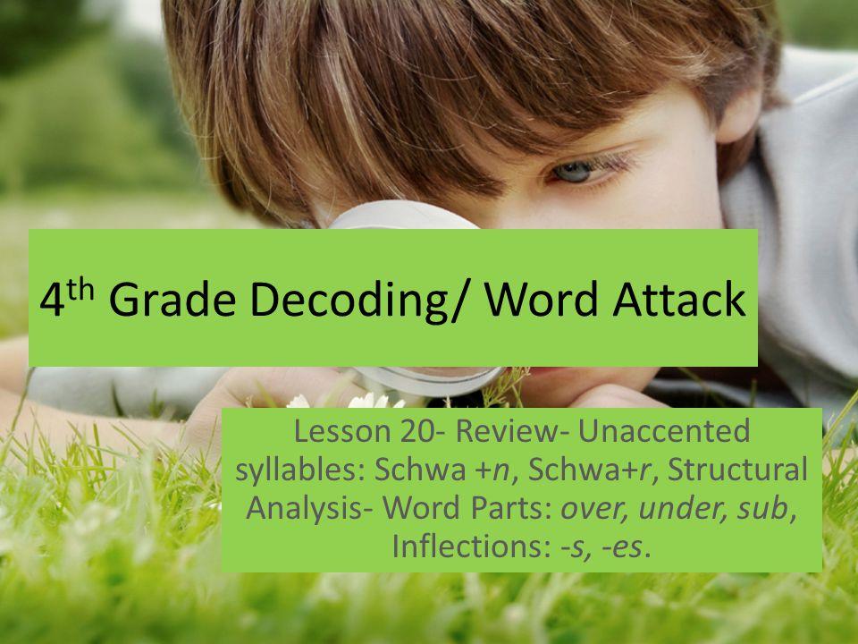 4th Grade Decoding/ Word Attack