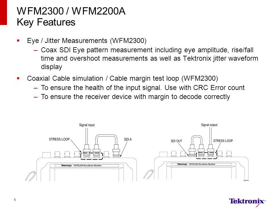 WFM2300 / WFM2200A Key Features Eye / Jitter Measurements (WFM2300)