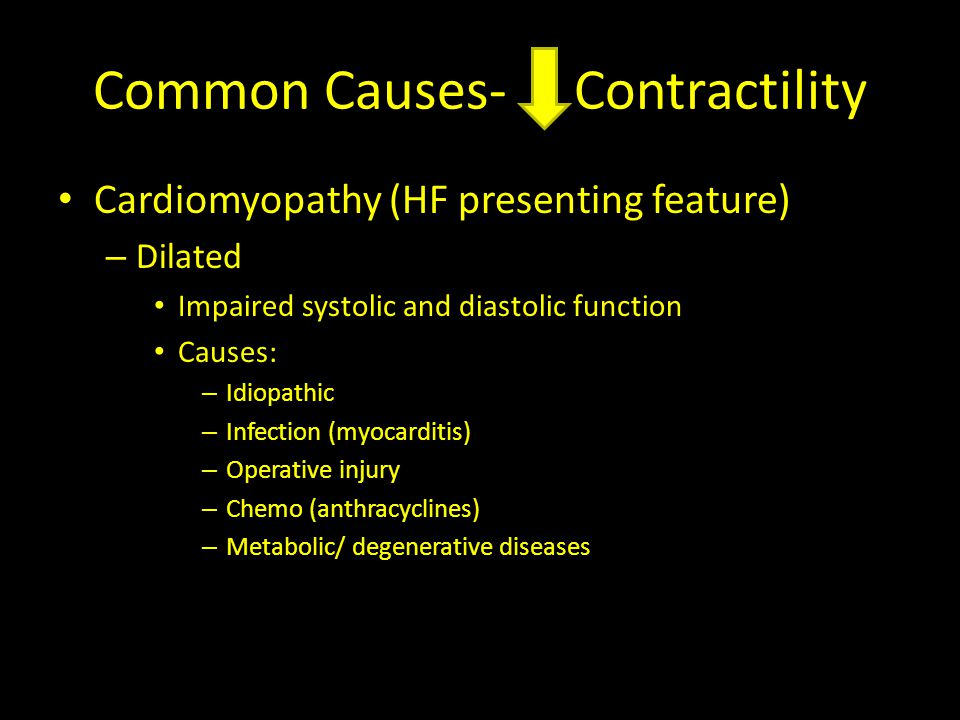 Common Causes- Contractility