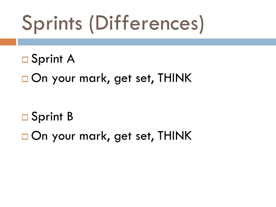 Sprints (Differences)