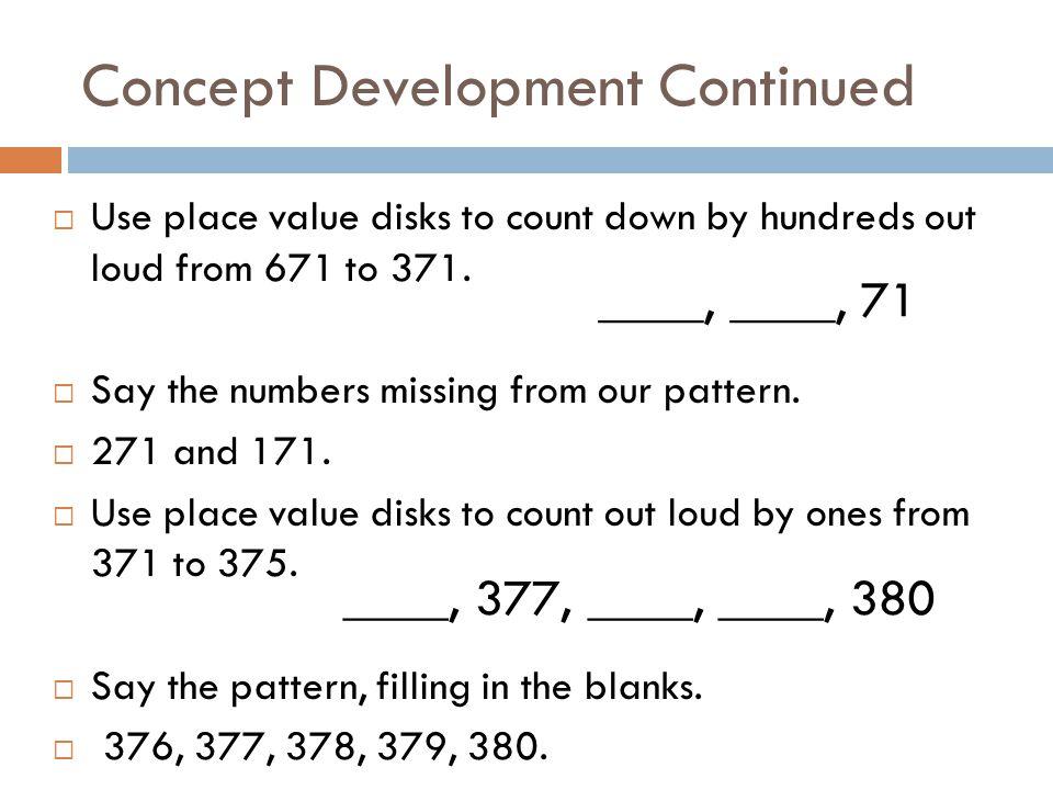 Concept Development Continued