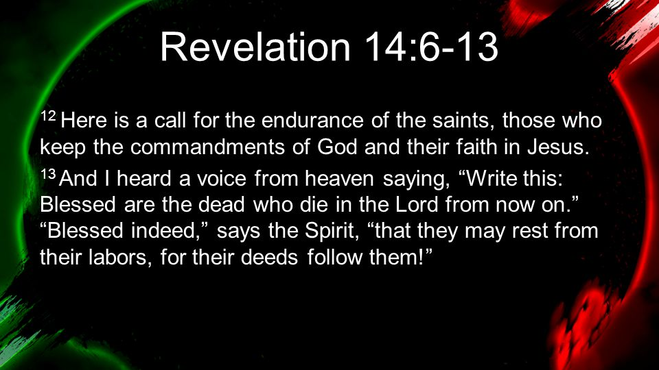Revelation 14:6-13