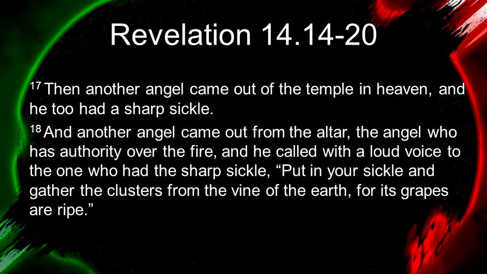 Revelation 14.14-20