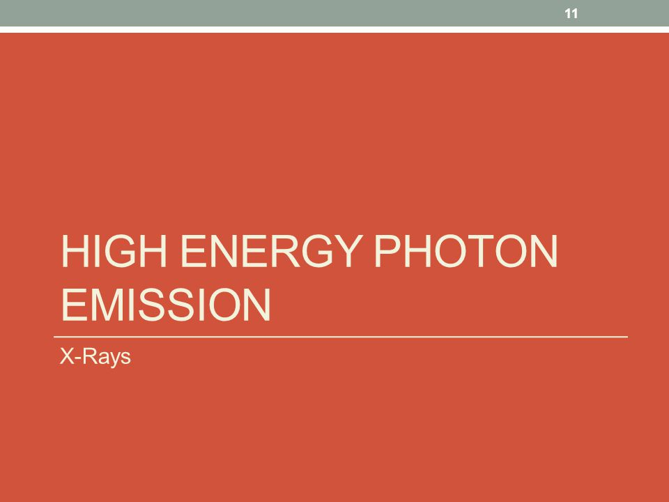 High Energy Photon Emission